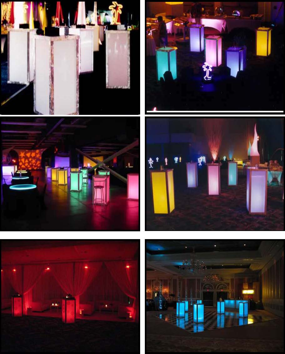 illuminated standup cubes