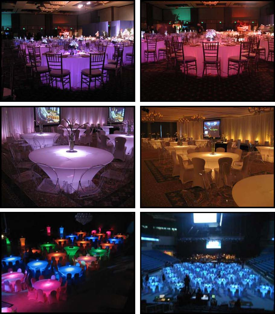 acrylic illuminated led dinner tables