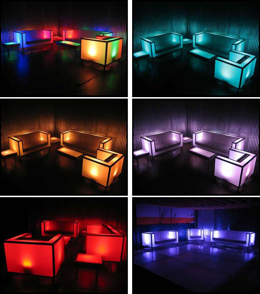 illuminated led furniture