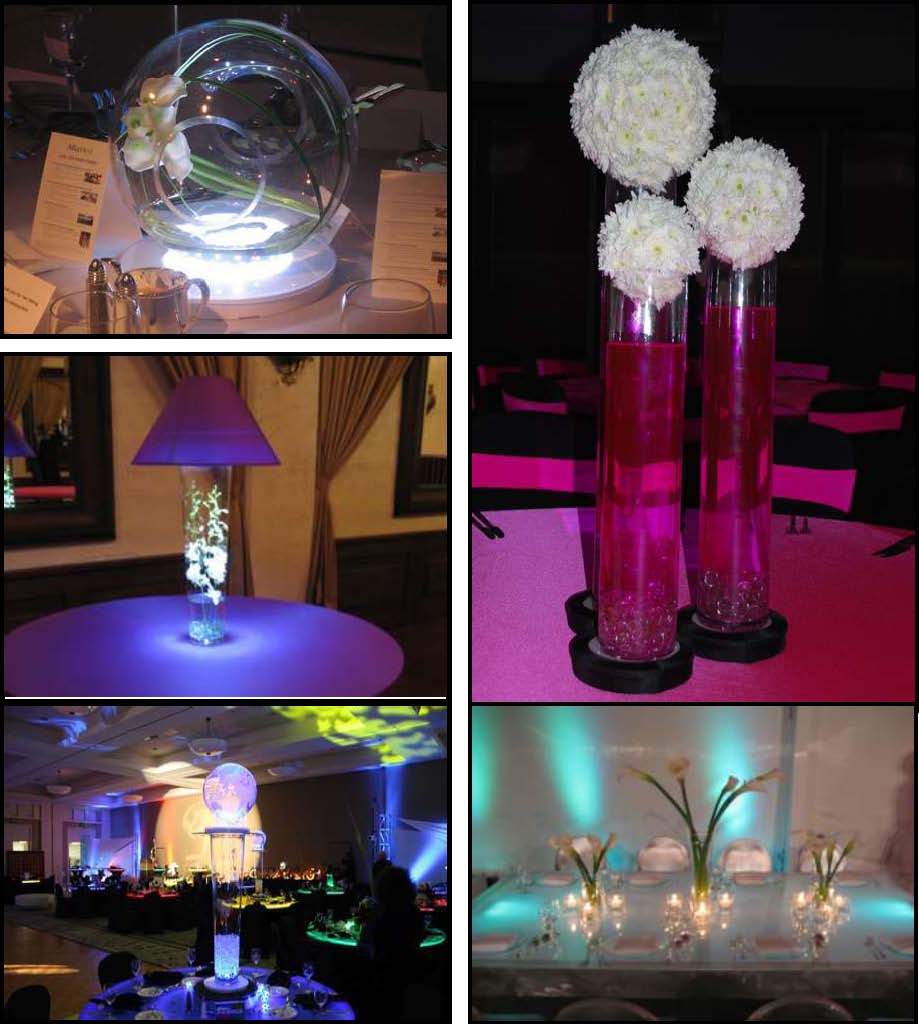 centerpiece glass props and products