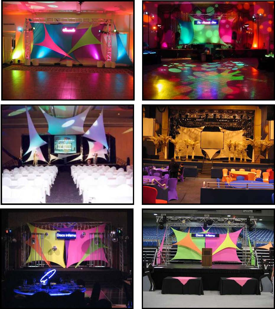 Props & Products Stage – Spandex Panels