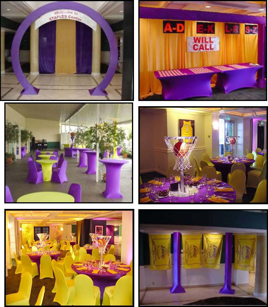 theme parties sports events productions